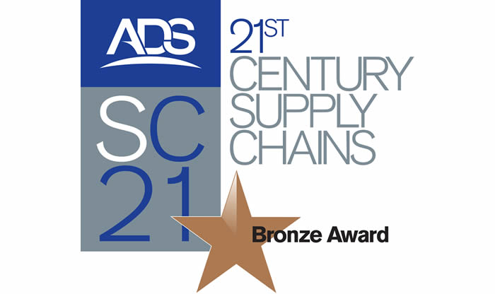The prestigious SC21 Industry Bronze Award given to JP Aero