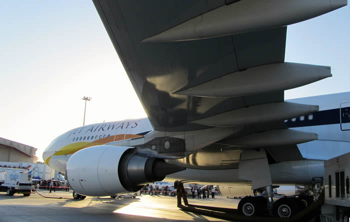 An Airbus 360 on the runway