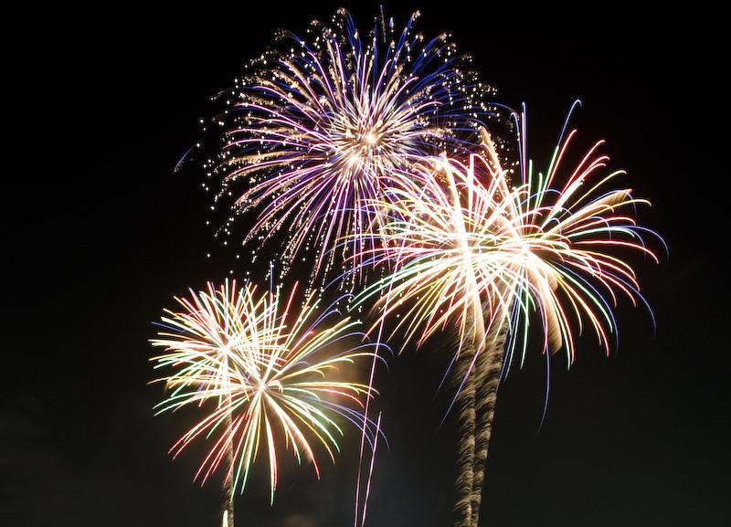 Some celebratory fireworks