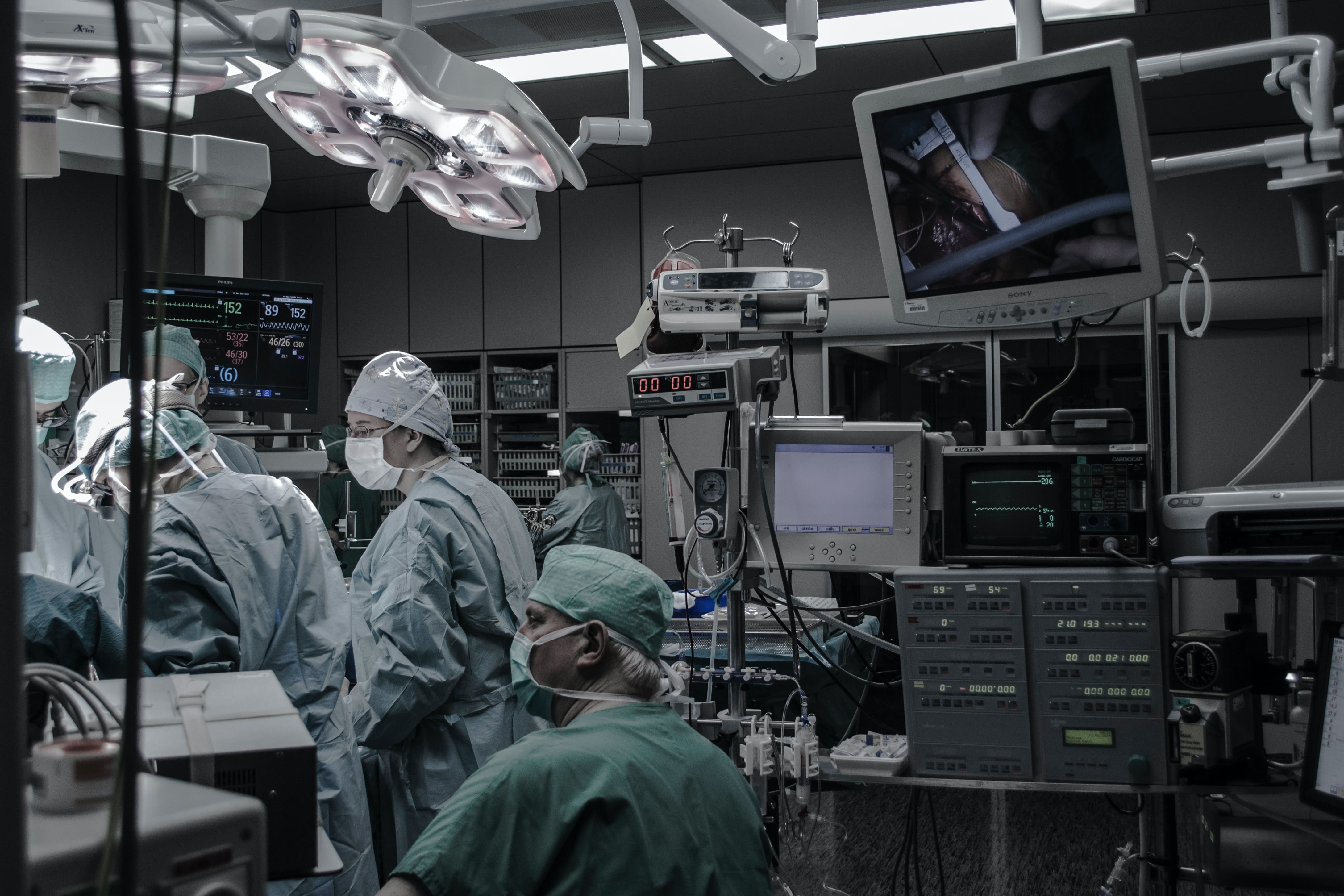 medical fasteners are a critical component during medical procedures such as this scene in an operating theatre