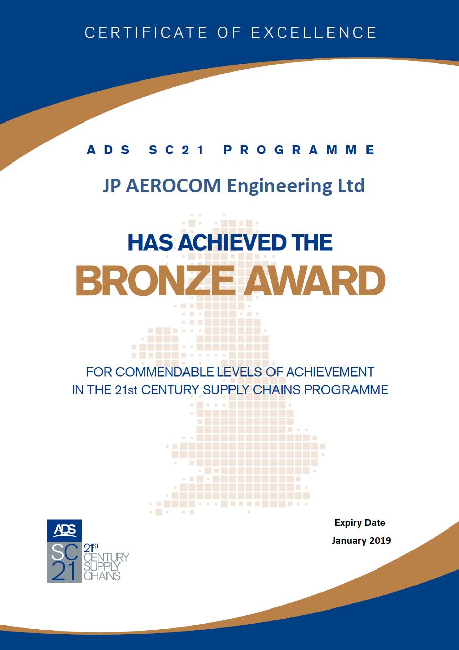 A copy of our SC21_Bronze Award Certificate